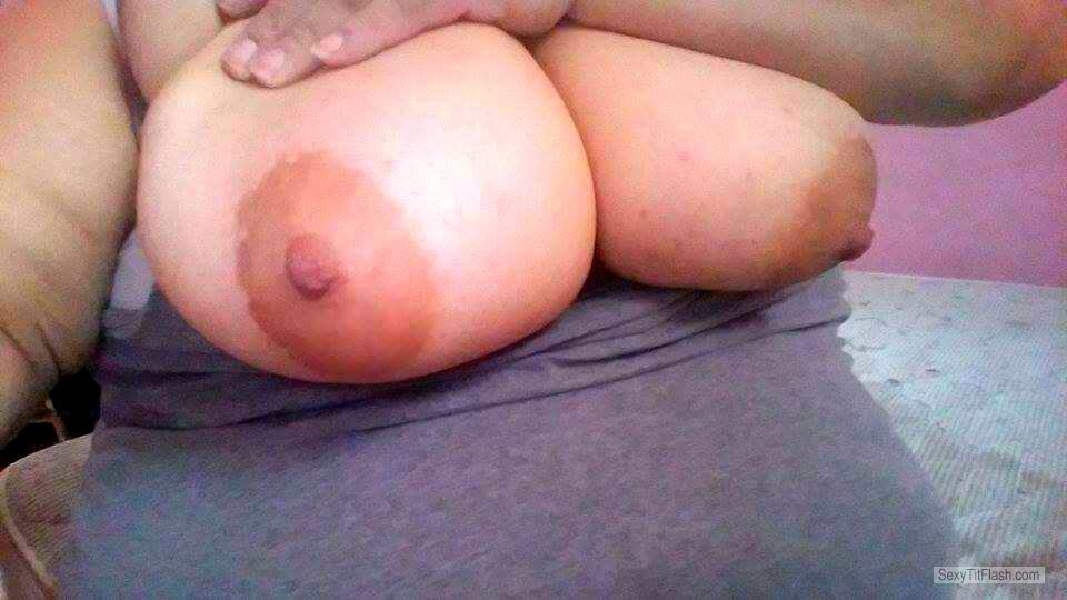 Tit Flash: My Very Big Tits (Selfie) - Sarah from United States